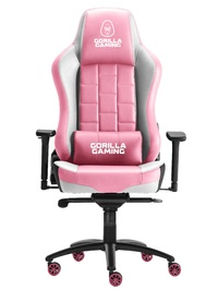 Gorilla Gaming Alpha Prime Chair - Pink & White for