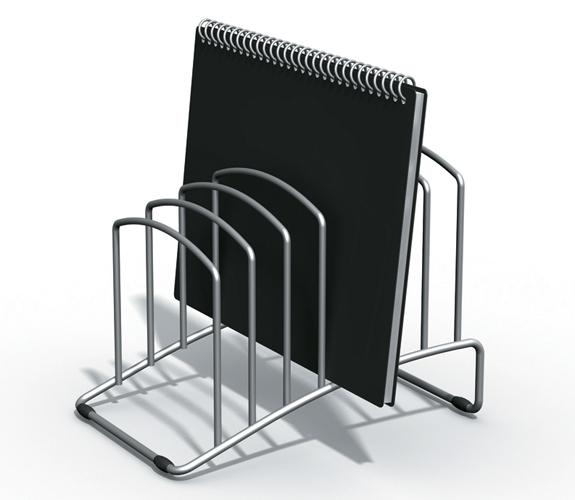 Office Supply Co: 7 Slot U Shape File Tidy Silver