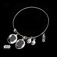Star Wars Han & Leia Stainless Steel Expandable Bracelet