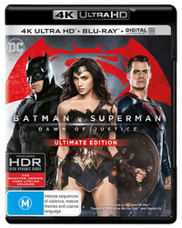 Batman v Superman: Dawn of Justice on Blu-ray, UHD Blu-ray