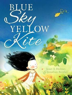 Blue Sky Yellow Kite by Janet A. Holmes image