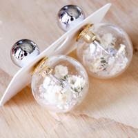 Short Story: Fantasy Bubble Earrings - Flower White