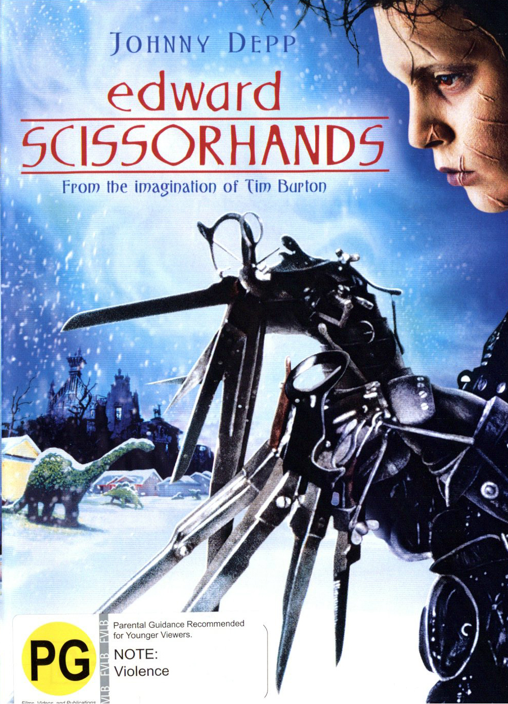 Edward Scissorhands on DVD image