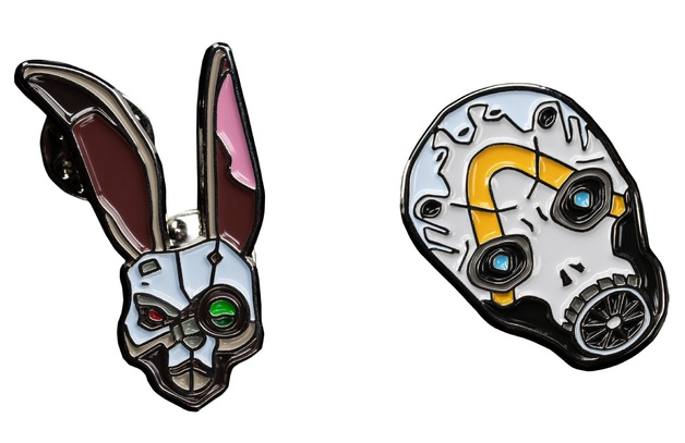 Borderlands 3: Collectible Pin Set - Psycho Bandit & Bunny Mask