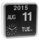 Karlsson Mini Flip Calendar Wall Clock - White