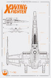 Star Wars Episode VII - X Wing Plans Maxi Poster (589)