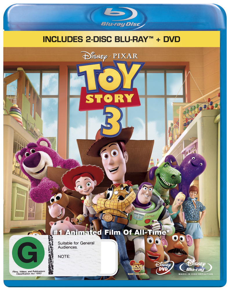 Toy Story 3 on DVD, Blu-ray image