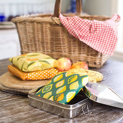 Apiwraps Lunch Call - Beeswax Food Wraps (Rainbows)