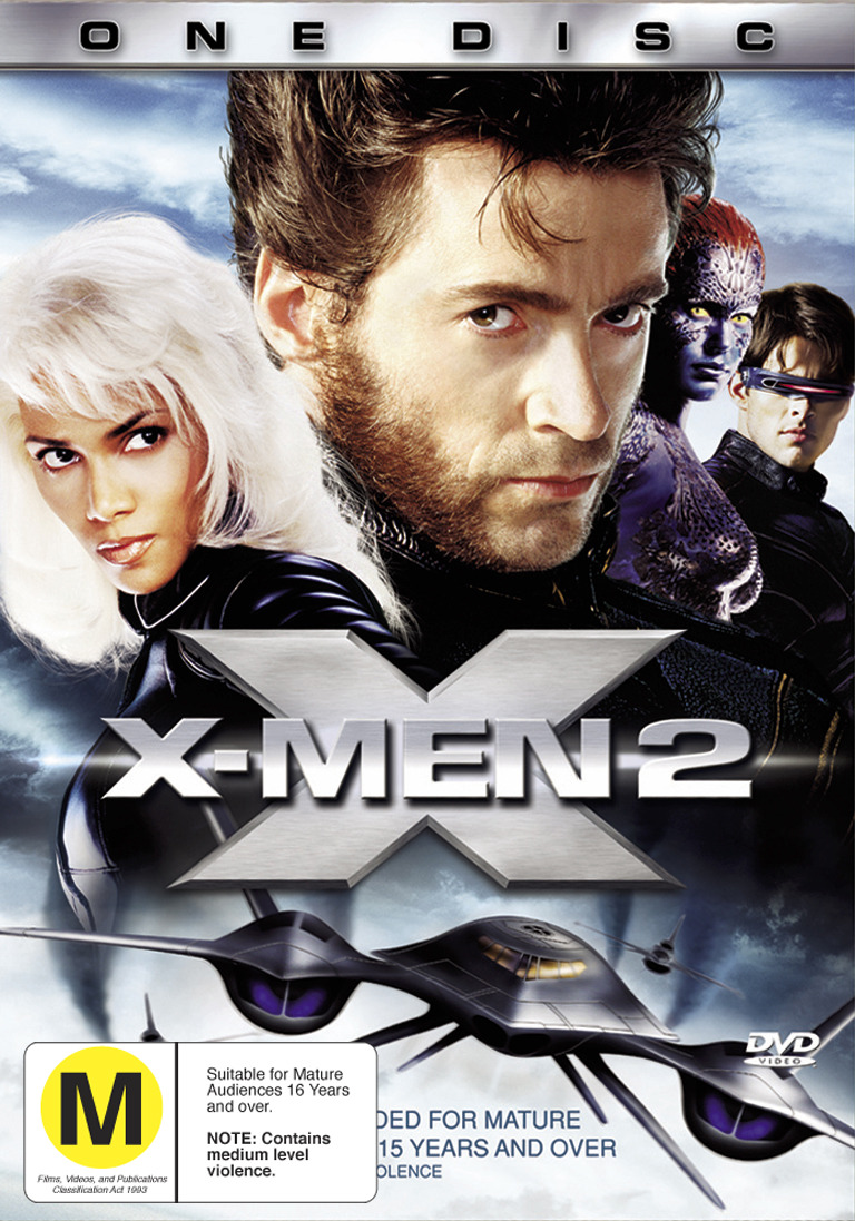 X-Men 2 (Single Disc) on DVD image