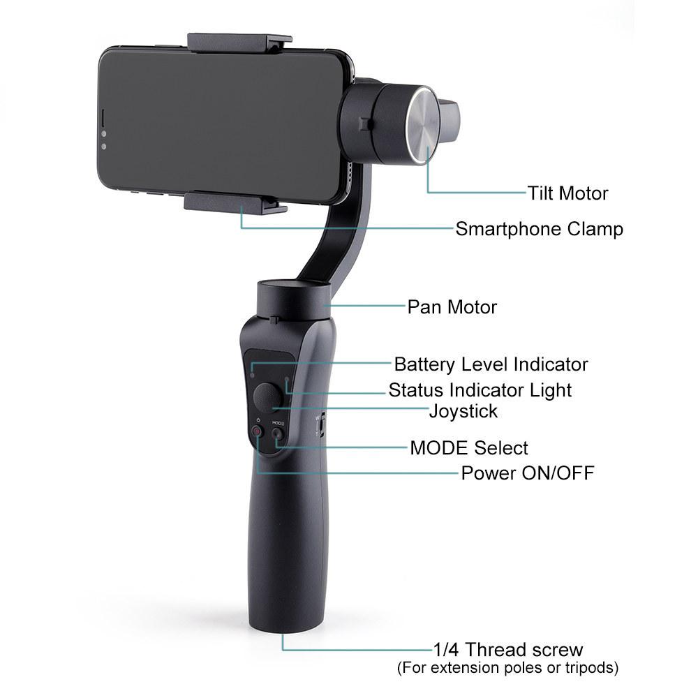 Ape Basics 3-Axis Handheld Gimbal Stabilizer image