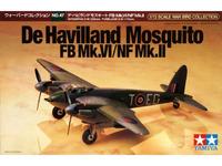 Tamiya British De Havilland Mosquito FB Mk.VI/NF 1/72 Aircraft Model Kit