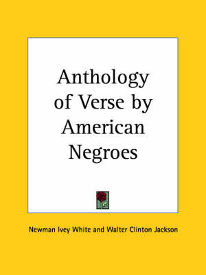 Anthology of Verse by American Negroes (1924)