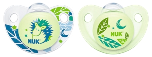 NUK: Glow in the Dark Soother - 6-18 Months (2 Pack) - Green image