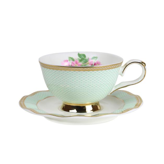 Robert Gordon: Teacup & Saucer (Parlour Green)
