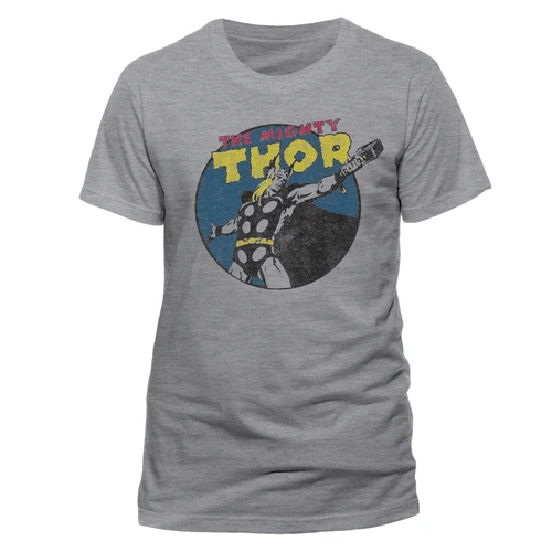 The Mighty Thor - Vintage Unisex T-Shirt Grey - Large