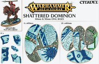 Shattered Dominion 60mm & 90mm Oval Bases
