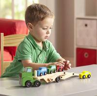 Melissa & Doug: Wooden Car Carrier Truck
