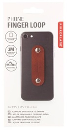 Kikkerland: Phone Finger Loop - Brown