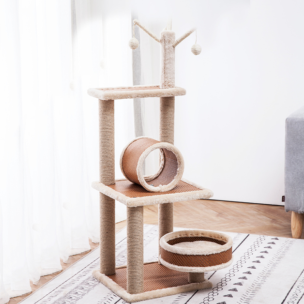 Cat Tree Scratcher (5 Levels) 1.1M With Bed & Barrel