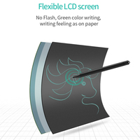 LED Kids Creative Education Writing Notepad Tablet - Black