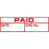 X-Stamper Paid Date Cheque Red