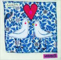Artist's Cards - Lovebirds Greeting Card