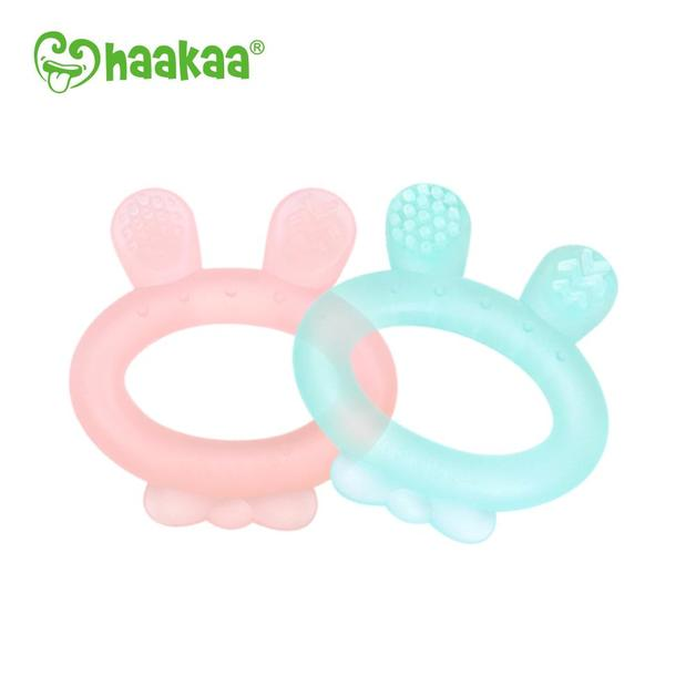 Haakaa: Rabbit Ear Teether - Blue
