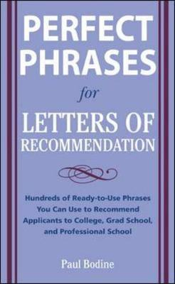 Perfect Phrases for Letters of Recommendation by Paul Bodine image