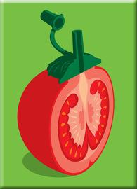 Chopped Tomato Fridge Magnet - Glenn Jones