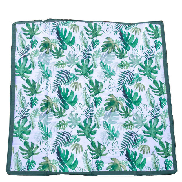 "Little Unicorn: Outdoor Blanket - Tropical Leaf (5"" x 7"")"