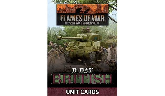 """Flames of War: """"D-Day British"""" Unit Card Pack (66 cards)"""