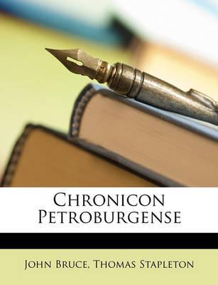 Chronicon Petroburgense by John Bruce image
