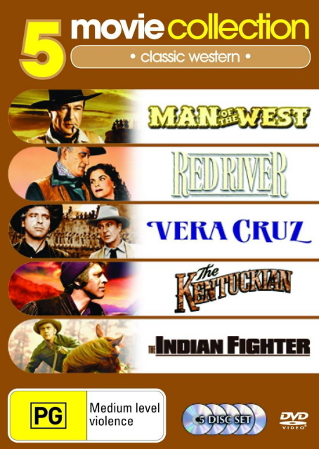 Man Of The West / Red River / Vera Cruz / Kentuckian / Indian Fighter (5 Disc Set) on DVD