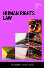 Human Rights Lawcards: 2010-2011 image