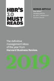 HBR's 10 Must Reads 2019 by Harvard Business Review image