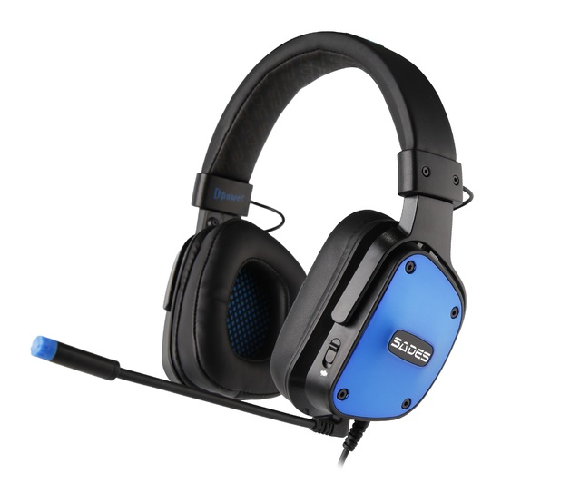 SADES D-Power Gaming Headset (Blue) for PC