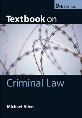 Textbook on Criminal Law by Michael J. Allen image