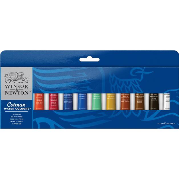 Winsor & Newton: Cotman Watercolour Set - 12 Colours (8ml)