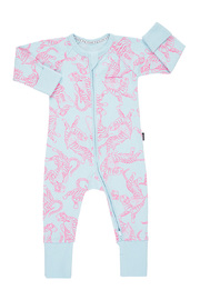 Bonds Ribbies Zippy Wondersuit Long Sleeve - Flying Tiger (3-6 Months)