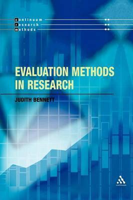 Evaluation Methods in Research by Judith Bennett