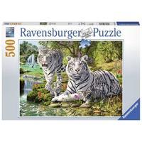 Ravensburger : White Cat Puzzle 500pc
