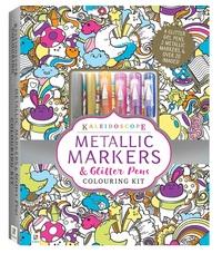 Kaleidoscope: Colouring Kit - Metallic Markers & Glitter Pens