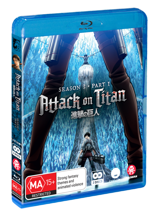 Attack On Titan: Season 3 - Part 1 (Eps 38-49) on Blu-ray
