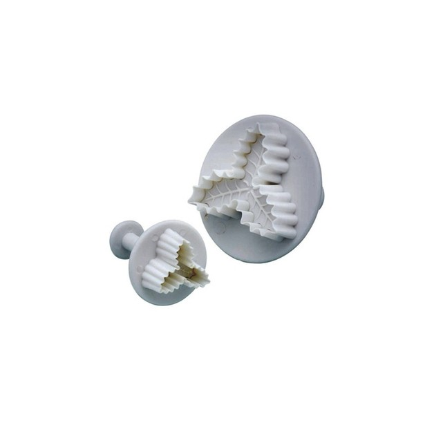 KitchenCraft: Sweetly Does It - Holly Fondant Plunger Cutters (Set of 2)