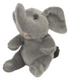 """Itsy Bitsy 4.5"""" African Elephant Soft Toy"""