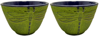 Teaology: Green Dragonfly Cast Iron Tea Cups - Set of 2 (120ml) image