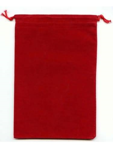 Suede Cloth Dice Bag (Large, Red)