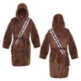 Star Wars Fleece Ladies Hooded Bath Robe - Chewbacca (Brown)
