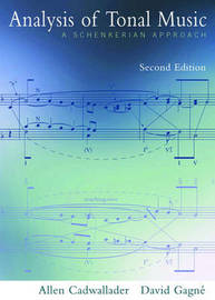 "Student Workbook to Accompany ""Analysis of Tonal Music"": A Schenkerian Approach by Allen Cadwallader image"