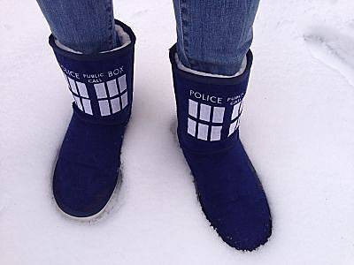 Doctor Who TARDIS Women's Ugg Boots (Size 8) image
